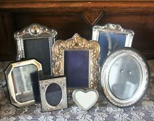 Sterling Silver Picture Frames LOT of 7 3 Hallmarked 925 KFLd & 4 Silverplate