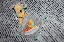 DOUDOU DISNEY BABY NICOTOY WINNIE MOUCHOIR HUGS & and WISHES NEUF ETIQUETTE