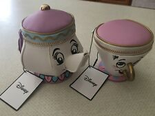 DISNEY BEAUTY AND THE BEAST MRS POTTS CHIP COIN PURSE AND TEAPOT PURSE...