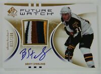 07/08 SP AUTHENTIC HOCKEY BRETT STERLING 4 CLR FUTURE WATCH PATCH AUTO 012/100
