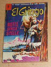ED.CORNO  SERIE  EL GRINGO  N° 8  1966  ORIGINALE  !!!!!
