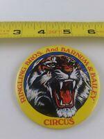 Vintage Ringling Bros Barnum & Bailey Circus Tiger pin button pinback *EE80