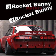 2x Rocket Bunny Car Decals Sticker For FT86 86 FRS BRZ 240SX 200SX GTR 350Z S14