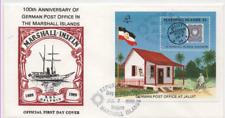 "Islas Marshall 1986"" 100th anniversary of Spanish post office ""primero etiquetas carta bl6"