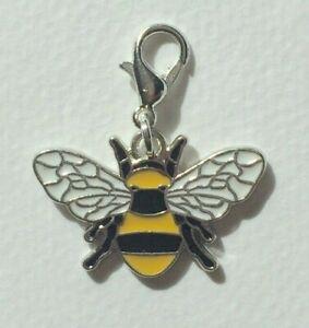 Bumble Bee Enamel Charm Clip On Bag Charm Birthday Gift Present