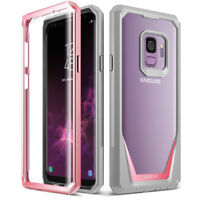 POETIC Samsung Galaxy S9 Case [Guardian] Rugged Clear Hybrid Bumper Case Pink