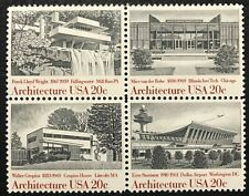 1982 Scott# 2019-2022 - 20¢ - Block of 4 - ARCHITECTURE - Mint NH