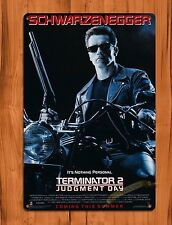 "TIN-UPS Tin Sign ""Terminator 2"" Judgement Day Vintage Movie Ride Art Poster"