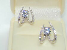 925 Silver Ear hoop Earring,Ear Cuff,Ear Jacket wraps crawlers,threader studs x2