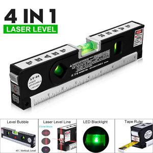 3 Line Spirit Laser Level Ruler Measuring Tape Horizontal Vertical DIY Tool AU