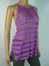 We the free by Free People Purple Cutout High Low Tank Top M 8 10 NEW F468