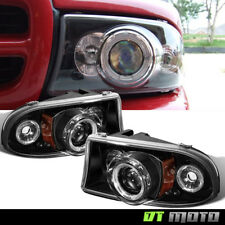 Blk 1997-2004 Dodge Dakota 98-03 Durango LED Projector Headlights Corner Signal