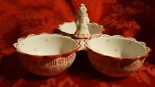 Temptations By Tara Peppermint Angel Divided Dish 3 Section & Spread Knife  ✞