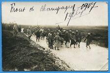 CPA PHOTO: Front de Champagne 1917 - Prisonniers allemands / Guerre 14-18