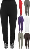 New Plus Size Womens Sequin Ladies Full Length Long Stretch Leggings Pants 12-26