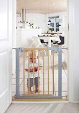 BabyDan True Pressure Fit Avantgarde Indicator Baby Stair Gate Silver Beech