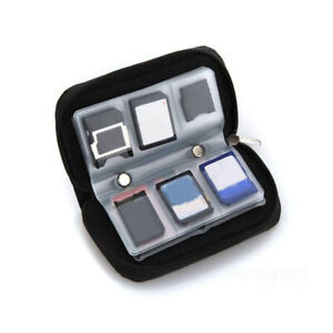 Memory Card Case Wallet For Micro SD SDHC CF SM Protective Storage Holder Pouch~