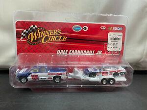 Winner's Circle Dale Earnhardt Jr National Guard Pickup Truck Trailer NASCAR Set