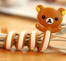 FD2399 San-X Rilakkuma Bear Earphone Headphone Cable Cord Organize Wrap Wind x1♫