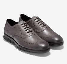 New Cole Haan Men's ZERØGRAND Wingtip Oxford Burnished Pavement Leather C30720