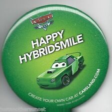 "Disney Cars Land Promo Button Disneyland Exclusive 3"" Happy Hybridsmile Green"