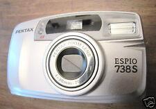 vendo macchina fotografica vintage pentax compatta tradizionale espio 738s 738 s