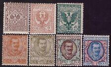 REGNO D'ITALIA 1901 -  FLOREALE n.68/70+72+75+77+78 NUOVI € 230