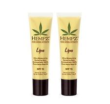 Hempz Ultra-Moisturizing Herbal Lip Balm Set of 2 100% Natural Hemp Seed Oil