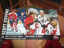Scott Stevens NJ Devils Poster Hall of Fame 2007 - SGA