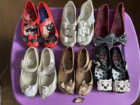 Lot Of Girls Mini Melissa Size 12 Shoes Disney 6 Pair