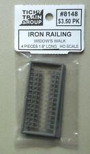 "HO 1.8"" Iron Railing Widow's Walk  HO 1:87 SCALE LAYOUT TICHY TRAINS 8148"