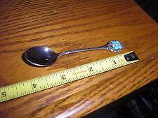 """Vintage 4"""" Silver ? Yellowstone National Park Collectible Souvenir Antique Spoon"""