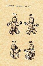 Patent Print - LEGO MiniFigure - 2 Print Set - Ready To Frame! Great Gift Idea!