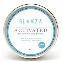Glamza Natural Organic Activated Charcoal Tooth Teeth Whitening Powder Paste Big