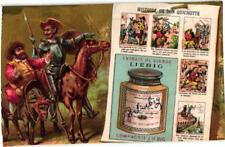 6 chromo litho trade cards c1884 LIEBIG 129 FAVOLE Fables contes cutted borders