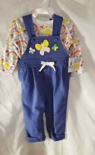 Girls Overalls Long Sleve TShirt Butterflies Rainbows New Infant Baby Clothes