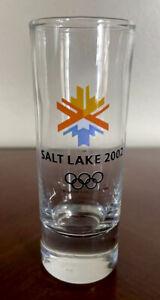 2002 Salt Lake Utah USA Winter Olympics Rings Tall Shooter Shot Glass