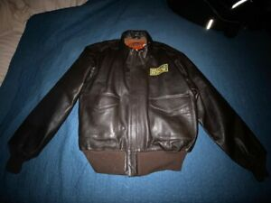 Medal of Honor WWII Leather Bomber Jacket Men's XL From Electronic Arts