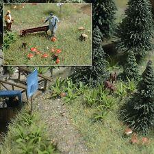 OO/HO Forêt Paysage Kit : Fougère Plantes & champignons + Bouleau Busch 1203 F1