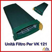 Unità filtro porta ricambi sacchetto per folletto vk 121 compatibile vorwerk