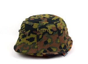 Reversible WWII German M35 Helmet Cover Spring W Fall OAK Camo Color