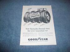 """1959 Goodyear Tires Vintage Ad """"Turnpike-Proved Tires for Your Imported Car"""""""