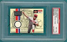 2001 Fleer Platinum Tom Seaver, Game Used - PSA 8! Reds! POP 1!