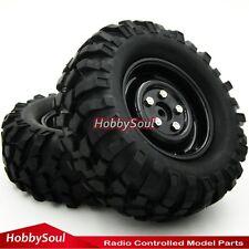 "2pcs RC 1/10 96mm 1.9"" Crawler Tires Hex 12mm Wheels for Axial Tamiya RC4WD"