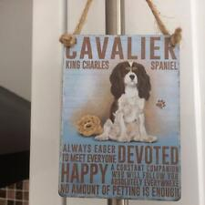 SHABBY COUNTRY CHIC CAVALIER KING CHARLES SPANIEL DOG MINI METAL SIGN