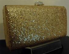 Stordimento Oro Glitter Shimmer Grandi Scatola Stile Pochette Borsetta con bloccaggio Fancy