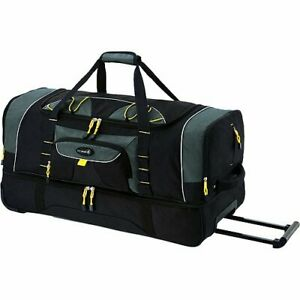 """Travelers Club Jumbo 36"""" 2-section rolling duffel with blade wheels FAST SHIP"""
