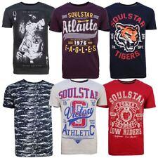 Soulstar Herren Jungen T-Shirt Tee Top Mode Bedruckt Designer Marke Style lässig