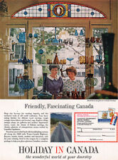 Hand Blown Art Glass Boutique HOLIDAY IN CANADA Friendly Fascinating 1964 Ad