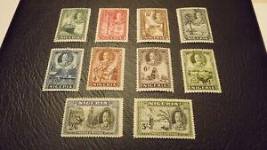 Nigeria George V 1936 MH range to 5/-